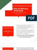 As 5 solas da Reforma