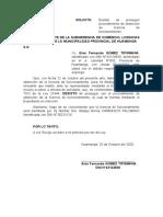 DESISTO DE OBTENCION DE LICENCIA DE FUNCIONAMIENTO