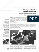 PSICOLGIA DA SAÚDE E PSICOLOGIA HOSPITALAR