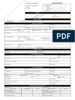 Credit Application Forms -  individual and corporation