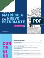 Guía de Matrícula del nuevo estudiante 2020 (edición setiembre 2019).pdf
