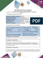Guía de actividades y rúbrica de evaluación – Paso 5 – Actividad Final