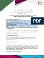 Guía de actividades y rúbrica de evaluación – Tarea - 5 - Realizar transferencia del conocimiento
