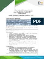 Guía de actividades y rúbrica de evaluación – Unidad 3 - Fase 5 – Proceso de conversión de energía a partir de la biomasa caracterizada