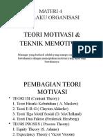 Perilaku Organisasi-teori Motivasi & Teknik Memotivasi