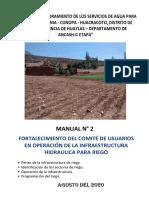 16.4. Manual De Operacion Infraestructura De Riego II
