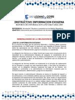 LYC 031 -  NUEVO REPORTE INFORMACION EXOGENA AÑO GRAVABLE 2019