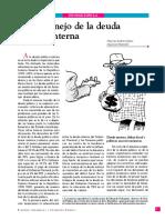 Cabrera, Mauricio. Gonzalez, Ivan. El desmanejo de la deuda pública interna. Español, 9 páginas