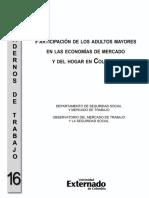 Participación de los adultos mayores en las economías de mercado y del hogar en Colombia
