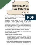 Concecuencias de las reformas Borbónicas