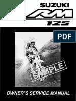 Suzuki RM125K4 '04 service manual