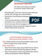 Pengantar Bisnis II (EOQ)