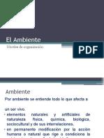 El Ambiente , Niveles de Organización.pptx