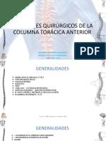 ABORDAJE A LA COLUMNA TORACICA ANTERIOR .pptx