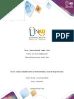 Formato Tarea 3 - Realizar análisis de niveles de escritura de niños a partir de sus producciones..docx