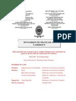 Dynamique du français au Cameroun Thèse Assipolo