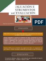 Evaluación e instrumentos de evaluación