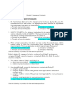 Module 9 Insurance Contracts--