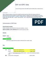 Determination of EIKP and EIPO data