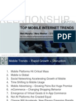 Top Mobile Internet Trends 2011 (from KPCB)