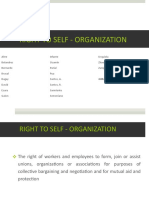 Right to Self - Organization