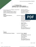 ZURICH AMERICAN INSURANCE COMPANY v. ACE AMERICAN INSURANCE COMPANY et al NC Docket