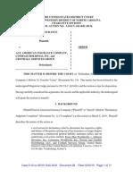 ZURICH AMERICAN INSURANCE COMPANY v. ACE AMERICAN INSURANCE COMPANY et al Order to Transfer Case to CA