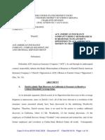 ZURICH AMERICAN INSURANCE COMPANY v. ACE AMERICAN INSURANCE COMPANY et al Def Response to Venue Change
