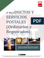 #TemarioCGT2020 · T1 Productos y servicios postales (ordinarios y registrados) PDF Licencia_0