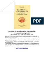 EBOOK Paul Hazard - La pensee europeenne au XVIIIe siecle de Montesquieu a Lessing 3 vol.