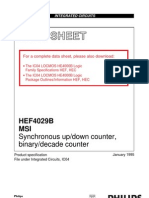 HEF4029B MSI Synchronous up/down counter, binary/decade counter