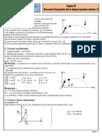 Cours 1 Mouvement d'un projectile dans le champ de pesanteur