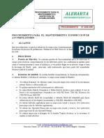 PROCEDIMIENTO PARA EL MNANTENIMIENTO DE ACUMULADORES ALEBARTA SAS