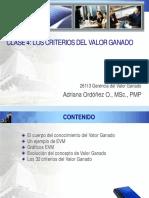 CRITERIOS VALOR GANADO
