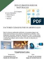 FACTORES CLIMATOLÓGICOS NATURALES
