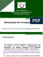Metodologias - Aulas 1 e 2 - 2020 21