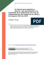 Calegari, Paula (2018). Proteccion laboral para pequenos y jovenes obreros una aproximacion a la trastienda de la elaboracion de la ley d (..)