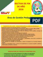 PRESENTACIÓN DIRECTIVA FIN DE AÑO 2016