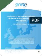 Les impacts macroéconomiques de la transition bas carbone en Belgique (2016)