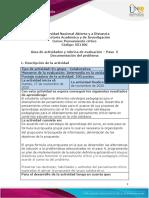 Guía de actividades y rúbrica de evaluación – Paso  5 Documentación del problema