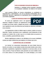 MISIONES SOCIALES EN VENEZUELA