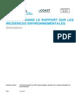 Le climat dans le rapport sur les incidences environnementales (2017)