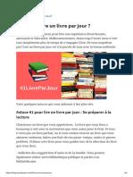 Comment lire un livre par jour _ - Blog de Pandanote