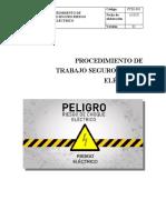 PROCEDIMIENTO DE TRABAJO SEGURO RIESGO ELECTRICO