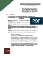 Predictamen de la comisión de Constitución para eliminar pensión vitalicia de los expresidentes