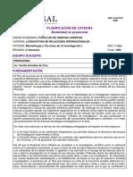 Programa Metodologia I 2020 UCASAL