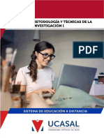 Modulo Metodologia I 2019 UCASAL