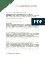 DEMANDA DE OTORGAMIENTO DE ESCRITURA PÚBLICA