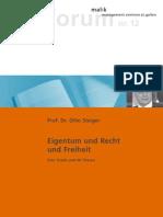 Steiger - Eigentum und Recht 66 Thesen - 2006