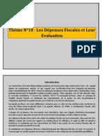 Thème N°18 Les-Dépenses Fiscales et Leur Evaluation